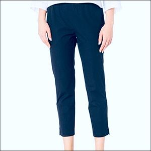 Eileen Fisher Organic Cotton Twill Pants in Navy